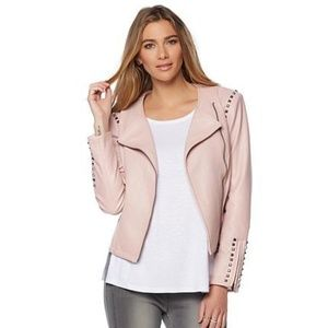 G by Giuliana ultra luxe studded moto jacket